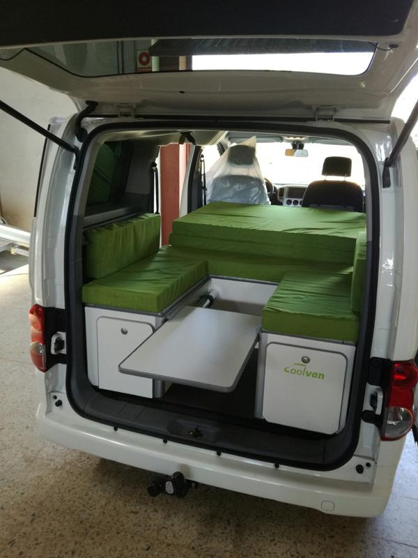 blog coolvan mueble cama para nissan evalia nv200. Black Bedroom Furniture Sets. Home Design Ideas